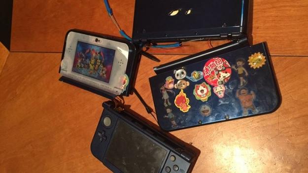 高嶋ちさ子さんがアップした破壊されたゲーム機