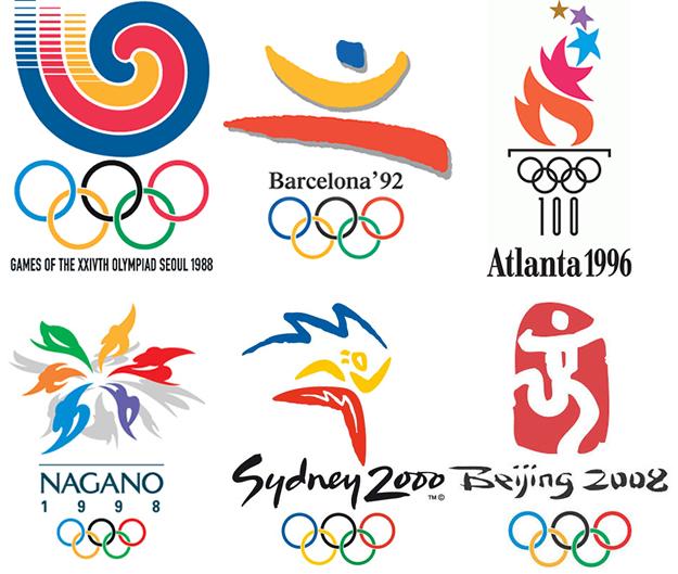 過去のオリンピックエンブレムのデザイン