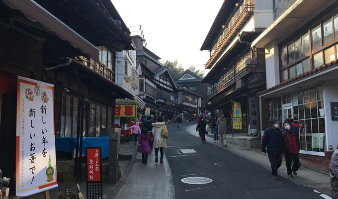 趣のある、成田山新勝寺への参道